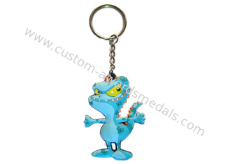 China Animal Shaped 2D Soft PVC Colorful Keychain, Customized Key Chain For Souvenir supplier