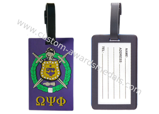 China Eco Friendly Multi Color Soft Pvc Luggage Tag, Custom Luggage Tags supplier