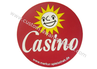 China Promotional Casino 2D PVC coaster, custom coasters for Beer, Coffee supplier