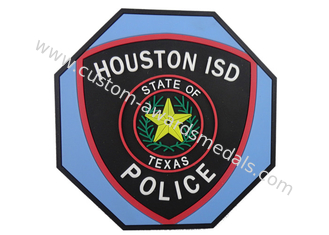 China Houston ISD 2d Soft PVC Beverage Coaster, Custom Drink Coasters supplier