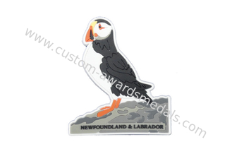 China 2D Puffin Soft Pvc Fridge Magnet, Personalised Fridge Magnets With Soft Magnet On Back Side supplier
