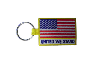 China Woven / Embroidery Key Chain, Custom Promotional Keychains With Twill, Cotton, Velvet supplier