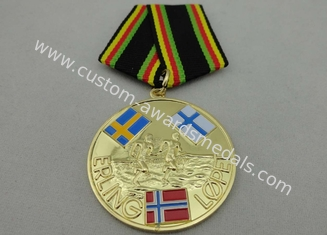 China ERLING LOPEZ Die Stamping Copper / Zinc Alloy / Pewter Custom Awards Medals for Sport Meeting supplier