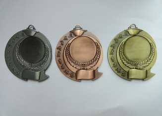 China Zinc Alloy Antique Gold Plated 3D Die Cast Military, Sport, Awards Medals without Enamel supplier