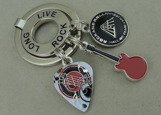 China Long Live Rock Promotional Keyrings Soft Enamel Customized Key Chain supplier