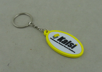 China 38 Mm Soft Custom Pvc Keyrings Give Away Personalized Key Chains supplier