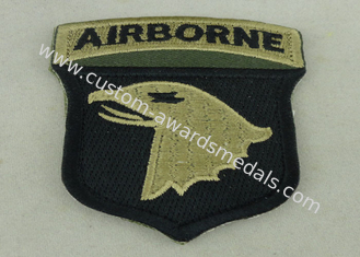 China Air Borne Custom Embroidered Patch Cotton Printed Sew On Patches supplier