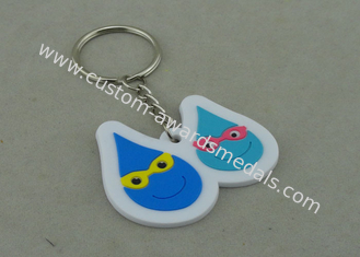 China Small Blue Promotional Customized Keychains For Give Away Gifts supplier