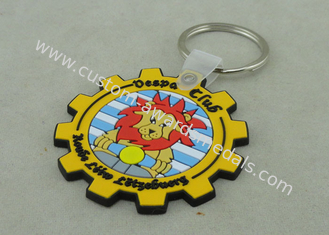 China Personalized 2D Soft PVC Keychain Custom Key Chains With Plastic Material supplier