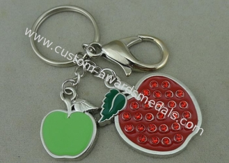 China Beauty 3D Logo Promotional Key Rings Personalised With Swarovski supplier