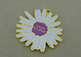 China Emma Soft Enamel Medal Gold Die Casting Award Medallions For Carnival supplier