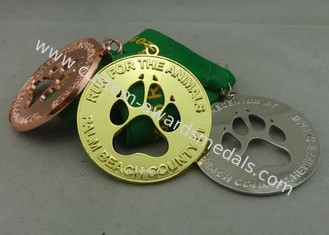 China Race Ribbon Medals Enamel Customizabled Sports Medals For Company supplier