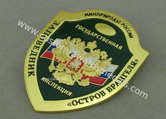 China Imitation Hard Enamel Badges With Copper , Die Struck Army Customised Badges For Awards supplier