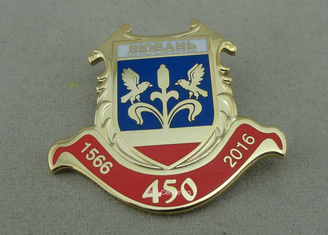 China Copper Promotion Custom Lapel Pins Personalized Gold Plating supplier
