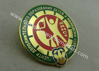 China 3D Imitation Hard Enamel Pin Die Stamped Metal Pin Badges For Military supplier