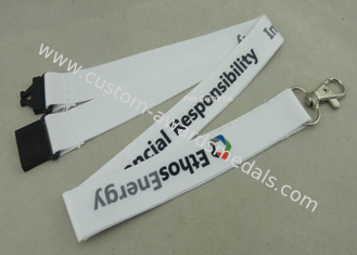 China Sport Meeting Neck Custom Printed Lanyards Polyester With Mobile Holder supplier