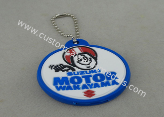 China Promotional PVC Keychain , Colorful PVC Badge For Bag Zipper supplier