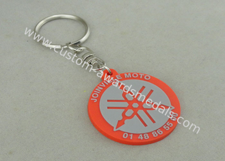 China 2D PVC Injection Keychain For Business Promotion , Customized PVC Badges. supplier