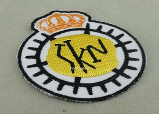 China Customized Embroidered Badge For Business Promotion , Black Merrow Eedge supplier