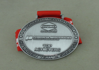 China Die Cast Medals For Souvenir , Ribbon Medal Badge For Sports supplier