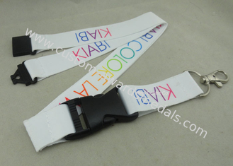 China Heat Transfer Promotional Lanyards , Customized Printing Lanyard With Safety Buckle supplier