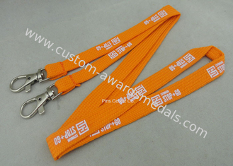 China Custom Promotional Polyester Printing Lanyards , Tube Lanyard With Solid Color Printing. supplier