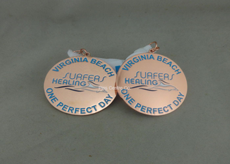 China Zinc Alloy Award Ribbons Medals , Eco Friendly Award Medals For Kids supplier