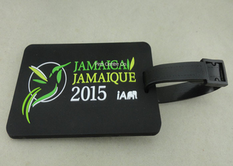 China Personalized Soft PVC Luggage Tag , 2D Eco Friendly Rubber Personalized Luggage Tags supplier