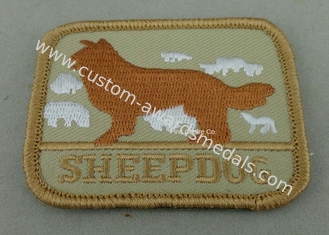 China Eco Friendly Custom Embroidery Patches with Polyester yarn / Cotton Yarn metallic thread supplier