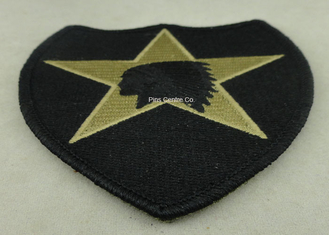 China USA Military Personalised Embroidered Badges , Embroidery Custom Cloth Patches supplier
