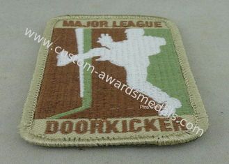 China Back Twill / Threads Polyester Custom Embroidery Patches For Club / Uniform supplier