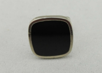 China 17 mm Square Sterling Silver Cufflink , 3D Small Nickel Plating For Company supplier