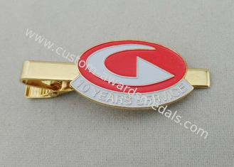 China 32 mm Aluminum Stainless Steel Copper Stamping Personalized Tie Bar For Men supplier