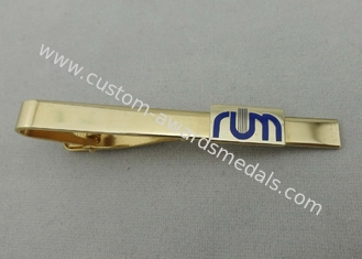 China 15 mm Gold Plating Personalized Tie Bar , 1 Inch Custom Copper For Mens supplier
