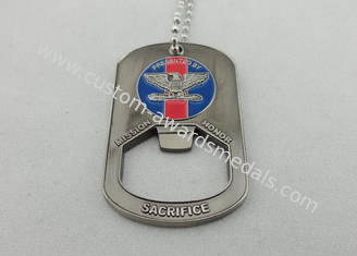 China Presented Personalised Dog Tags , zinc alloy , soft enamel , antique nickel plating supplier