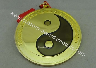 China Customized Karate Medals , Judo Taekwondo Jiu - jitsu Medals , Zinc Alloy Martial Arts Medals. supplier