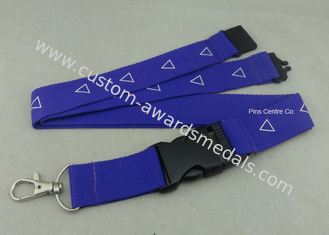 China Factory Customized Sublimation Printing Promotional Lanyards , Polyester Material With Breakaway Buckle supplier