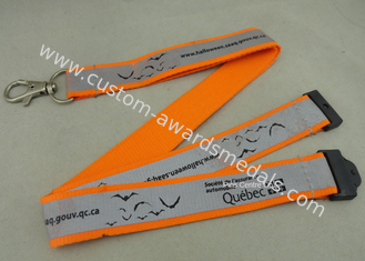 China Silk Screen Printing Reflection Custom Printed Lanyards , Celebration Lanyard With Polyester Material supplier