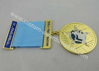 China 3.0mm Gold Plating Custom Medal Awards Zinc Alloy With Soft Enamel supplier