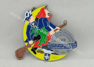 China Neudorfer Hexenzunft Carnival Medal Soft Enamel , Antique Nickel Plating supplier