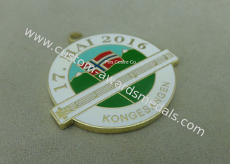 China Hard Enamel Zinc Alloy Medal Brass Stamped , Music Awards Medals With Gold Finishing supplier