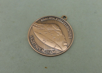 China Sports Antique Copper Die Cast Medals 3D Ribbon Medals With Brass Material supplier