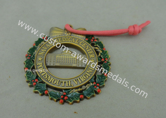 China Customized Zinc Alloy Ribbon Medals , 3D Die Casting Antique Brass Medals supplier