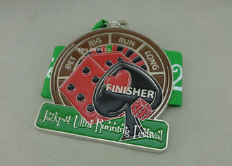 China Die Stamped Soft Enamel Medals Customized Ribbon For Sporting Running Awards supplier