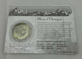 China Blue Mosque Personalized Coins 40mm For Outstanding People supplier