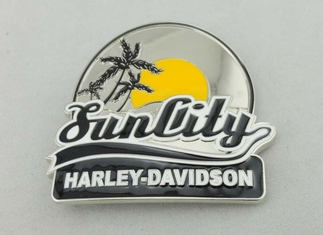 China Harley Davidson Belt Custom Made Belt Buckles With Enamel For Decoration supplier