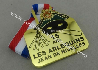 China Gold Belgium Carnival Celebration Medals Badge , Zinc Alloy Sports Medals supplier