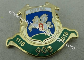 China Awards Enamel Lapel Pin Personalized Hard Enamel Metal Pin Badges For Army supplier