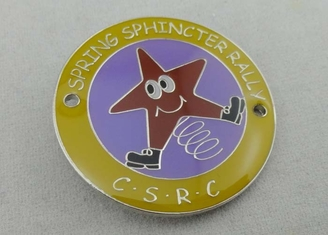 China 80mm Silver Plating Swaroviski Stone Carnival Medal / Imperial Crown supplier