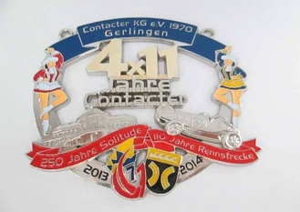 China Lynn Anna Carnival Medal By Zinc Alloy , Soft Enamel , Antique Nickel Plating supplier